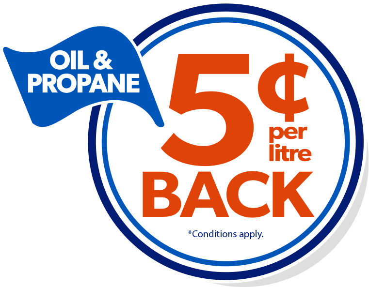 5 cents back on every litre
